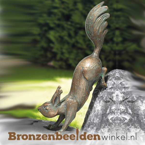 Bronzen eekhoorn beeld BBW37037