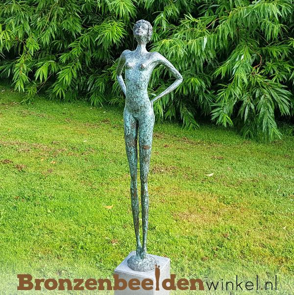 """Exclusief groot bronzen beeld """"Powervrouw"""" BBW004br41"""
