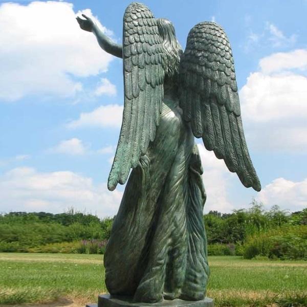 Bronzen Engelen Beelden.Tuinbeeld Engel Van Brons Kopen Bronzen Beelden Winke Met Gratis