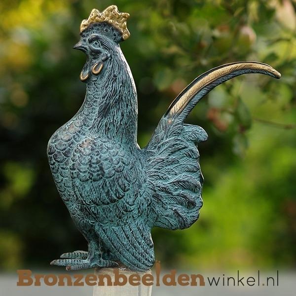 Bronzen beeld haan BBW5360br