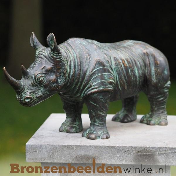 Bronzen neushoorn beeld BBW0684br