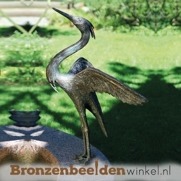 Bronzen beeld reiger BBW87197