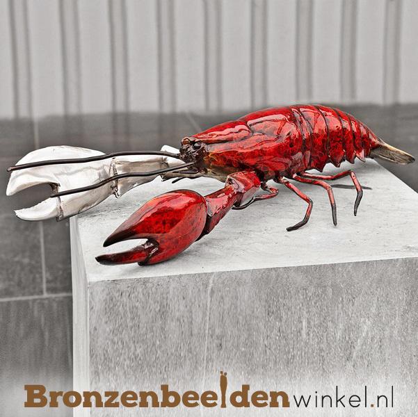 Beeld reuzenkreeft in brons BBW5116br