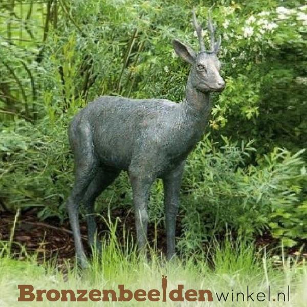 Bronzen beeld hert BBWR88285