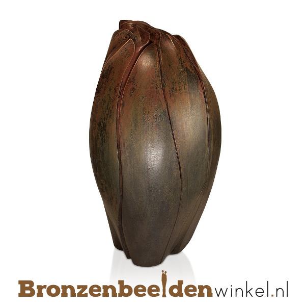 """Bronzen urn """"Gesloten bloem"""" BBW57007"""