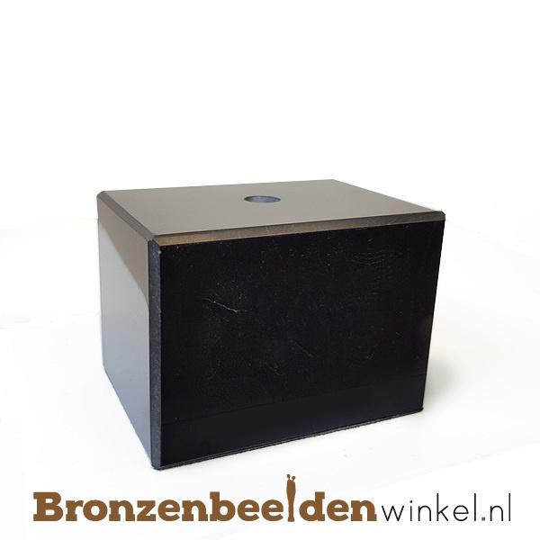 3x Marmeren sokkel 5x7x5 cm
