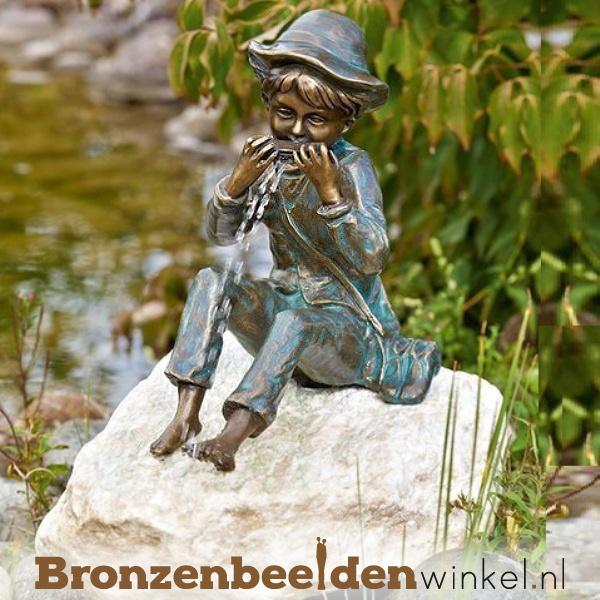 """Tuinbeeld """"Jongetje met mondharmonica"""" BBWR88588"""
