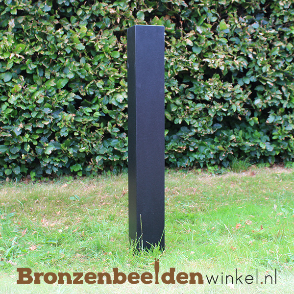 Granieten natuursteen sokkel 95x12x12 cm - dark finish