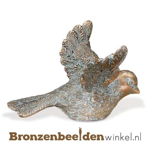 Dierenbeeldje vogeltje van brons BBW85394