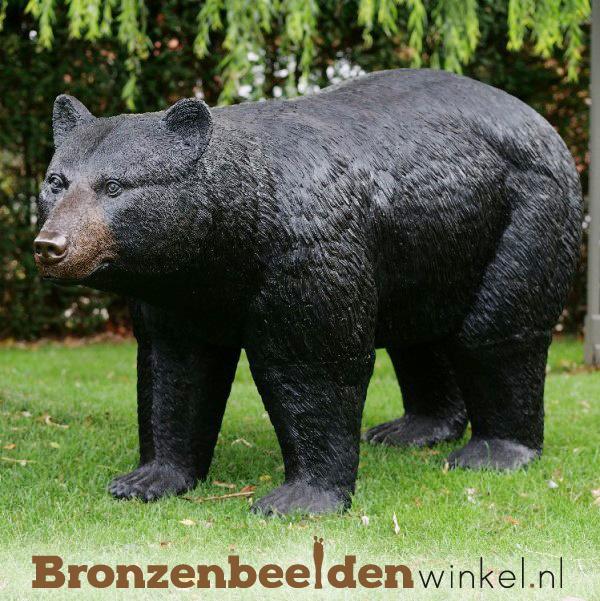 Groot beeld beer in brons BBW1277