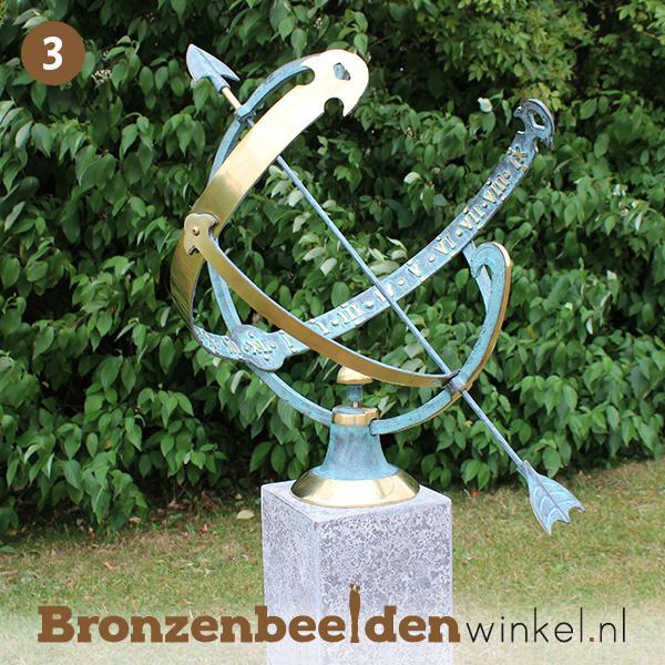 NR 3   Afscheidscadeau Bronzen zonnewijzer BBW0028br