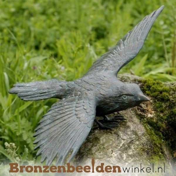 Beeld ekster vogel in brons BBWR88318