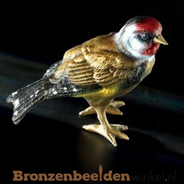 Bronzen vogeltje in kleur BBWF6528fa