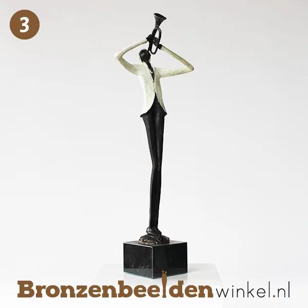 """NR  3   Cadeau man 90 jaar """"De Trompettist"""" BBW004br01"""