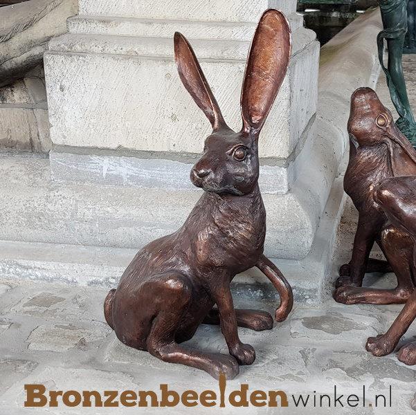 Beeld haas in brons BBW94572