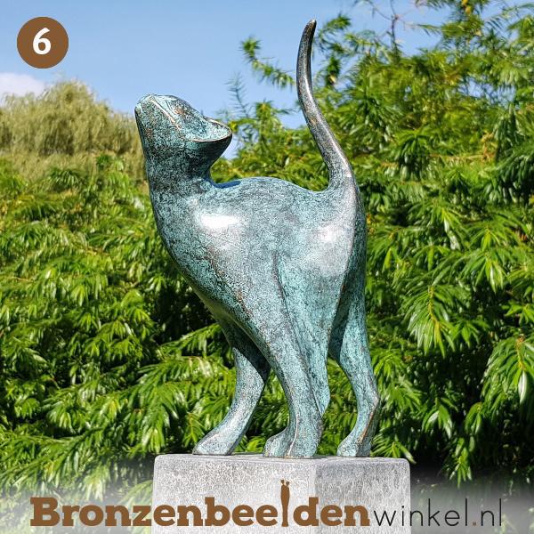 NR 6   Cadeau vrouw 75 jaar ''Bronzen kat'' BBW1666br