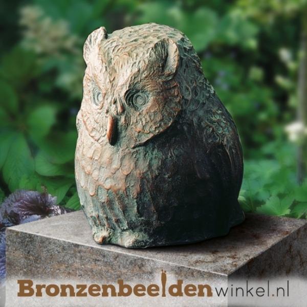Bronzen uil beeldje BBW87074