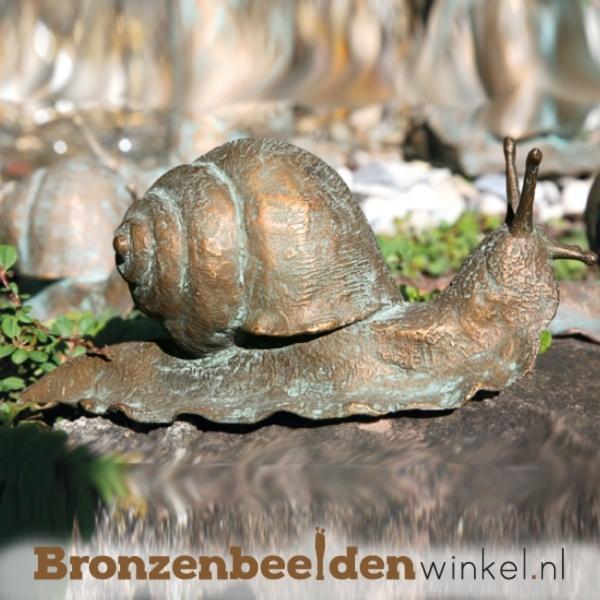Bronzen beeld slak BBW37029