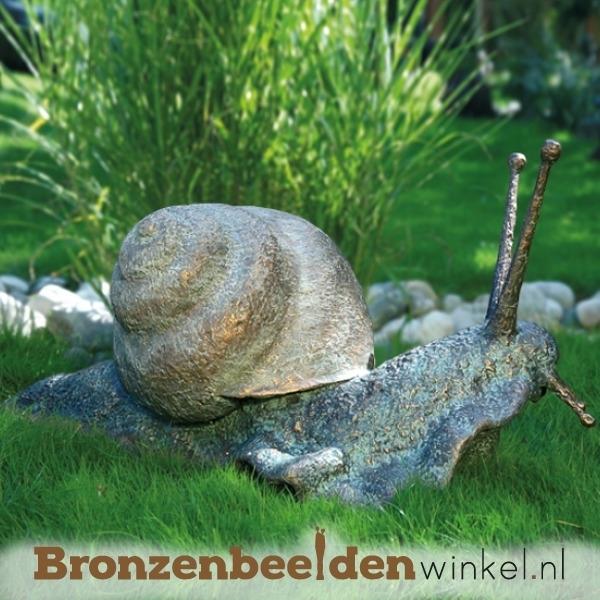Groot bronzen reuzenslak beeld BBW87039