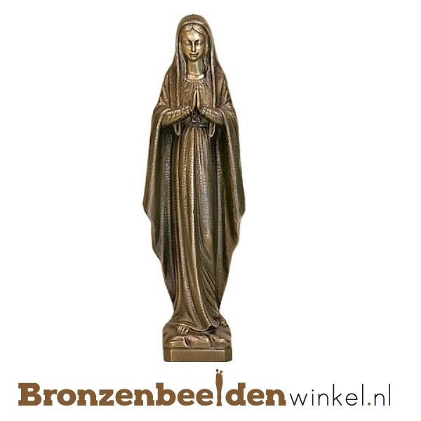 Bronzen Mariabeeld met gevouwen handen BBWP6587