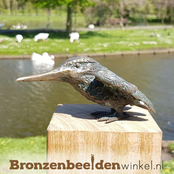 IJsvogeltje beeldje brons BBW89004