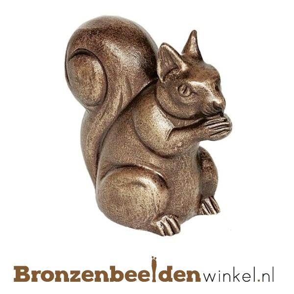 Dierenbeeldje eekhoorn van brons BBWP4361