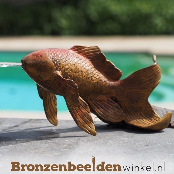 Fontein beeld goudvis spuitfiguur BBW2242br