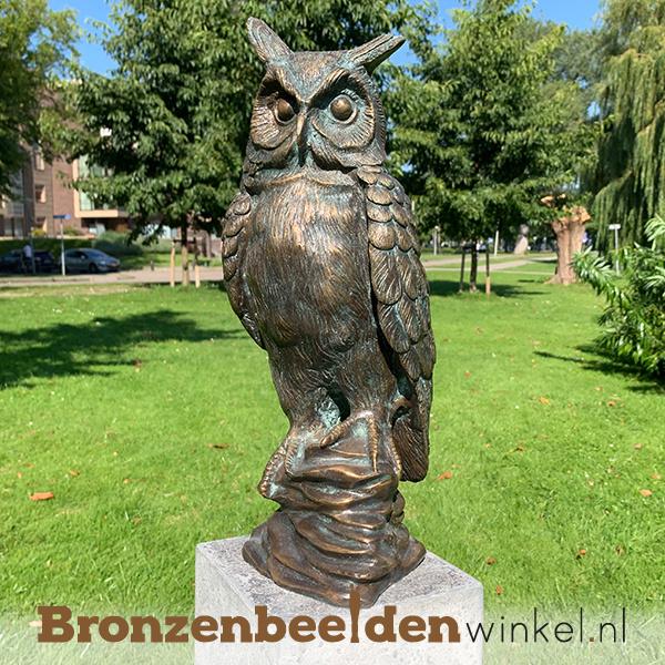 Beeld uil brons te koop BBWR88319