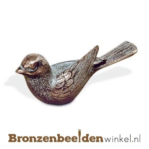 Dierenbeeldje vogeltje van brons BBW85368