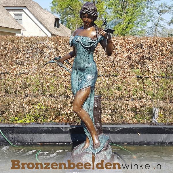 """Vijver beeld """"Vrouw met bloemen"""" BBW29380"""