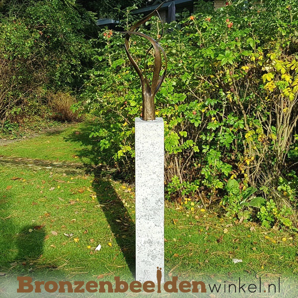"""Abstract tuinbeeld """"De Levensboom"""" incl. sokkel"""