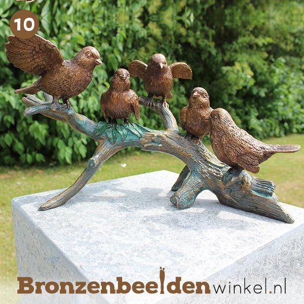 NR 10 | Cadeau vrouw 85 jaar ''Bronzen vogels op tak'' BBW0783br