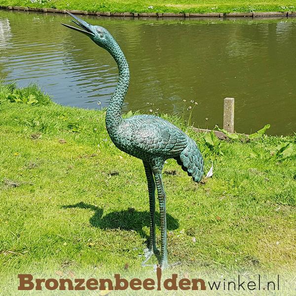 Bronzen beeld kraanvogel BBW1178-l