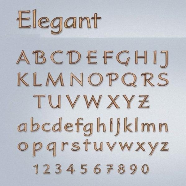 Bronzen letters Elegant