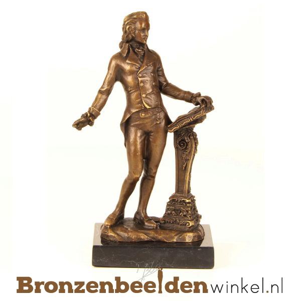 Muziekbeeldje Beethoven brons  BBWFA02
