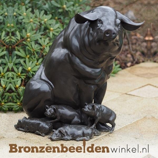 Tuinbeeld varken met biggetjes BBW50375
