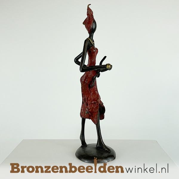 "Afrikaans beeld ""Binta en Nala"" 26 cm BBW009br61"