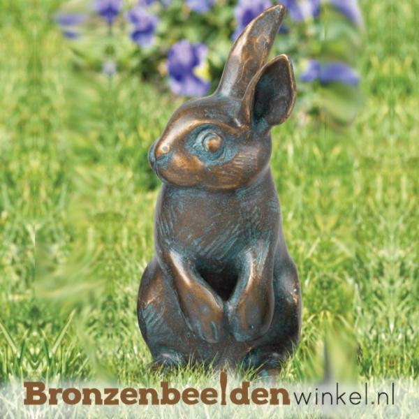 Bronzen beeld konijn BBW37183
