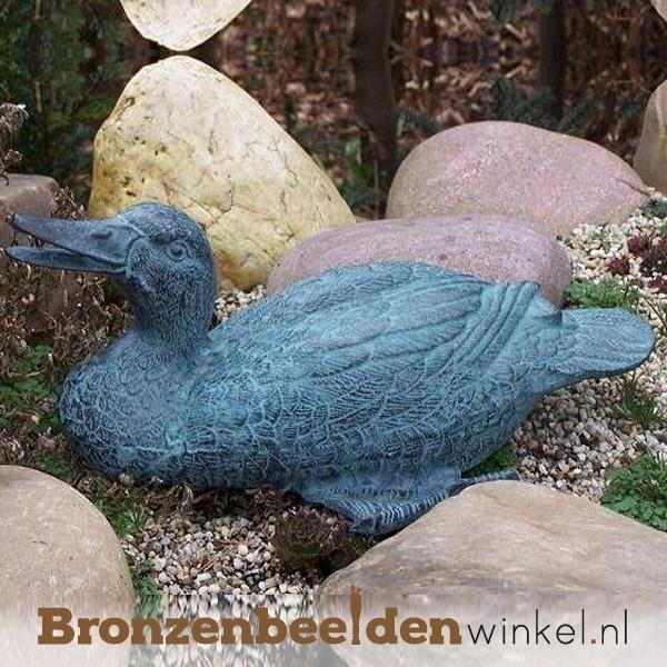 Bronzen eend fontein beeld BBW5325br