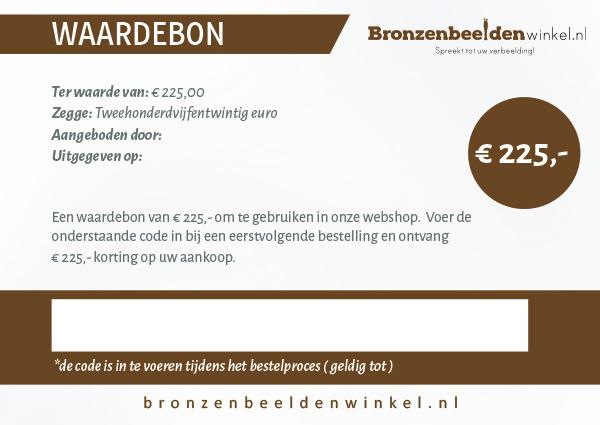 Cadeaubon t.w.v. €225,-
