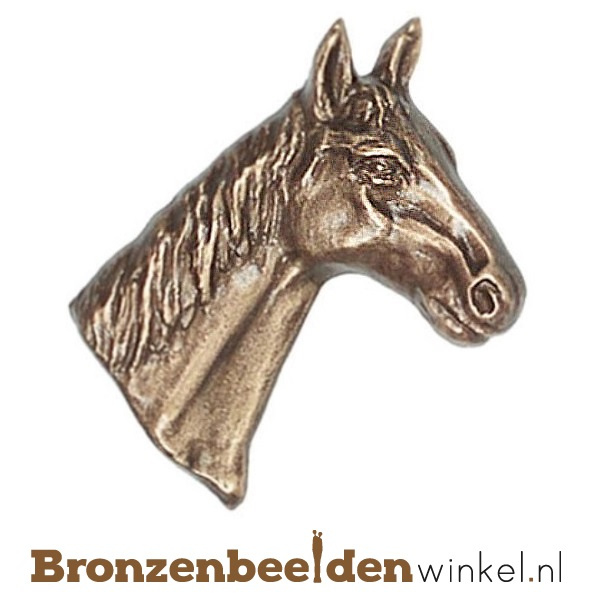 Dierenbeeldje paardenhoofd brons BBWP3418
