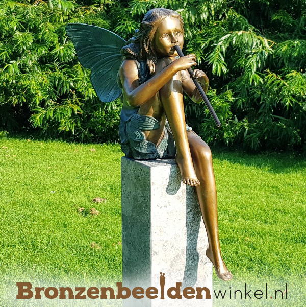 Tuinbeeld fee in brons BBW94531