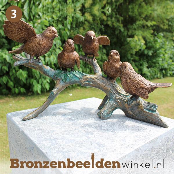 NR 3 | 85 jaar verjaardagscadeau ''Bronzen vogels op tak'' BBW0783br