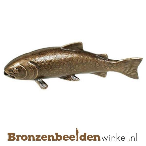 Dierenbeeldje forel vis van brons BBWP4366