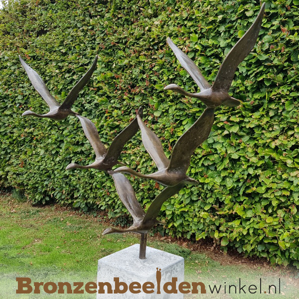 Tuinbeeld vogels ''De 5 ganzen'' BBWF5G