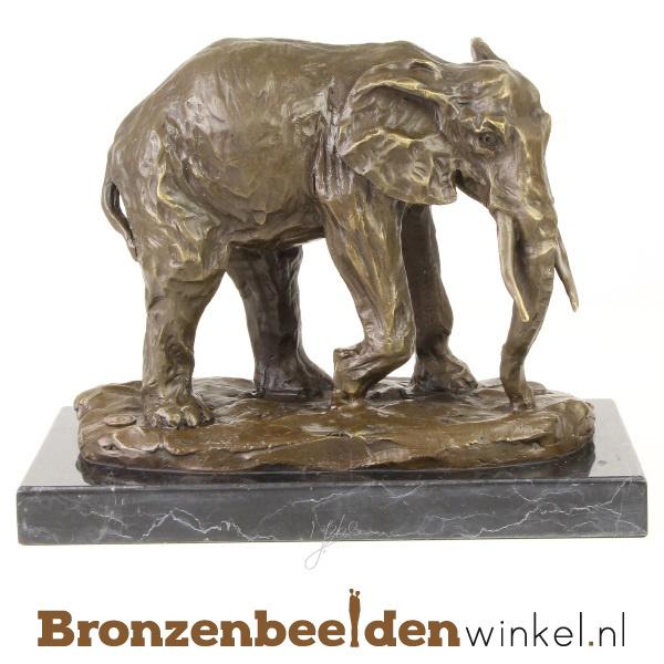 Bronzen olifant beeld BBWVG63