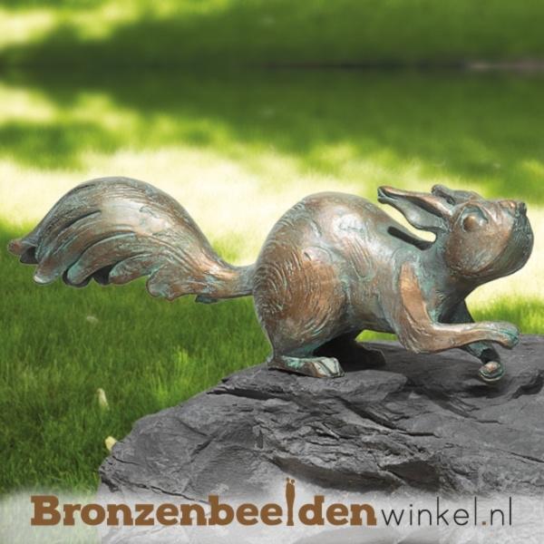 Bronzen eekhoorn beeld BBW37036