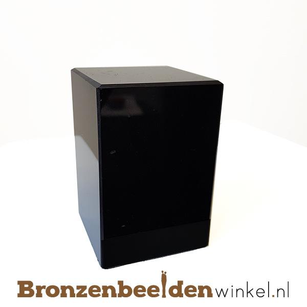 2x Marmeren sokkel 9x6x6 cm