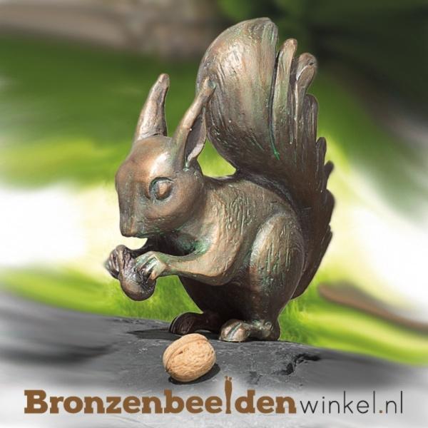 Bronzen eekhoorn beeld BBW37038