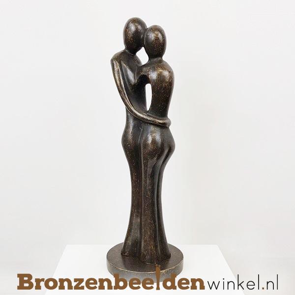 """Bronzen koppel """"Prachtig paar"""" als huwelijkscadeau BBW0718BR"""